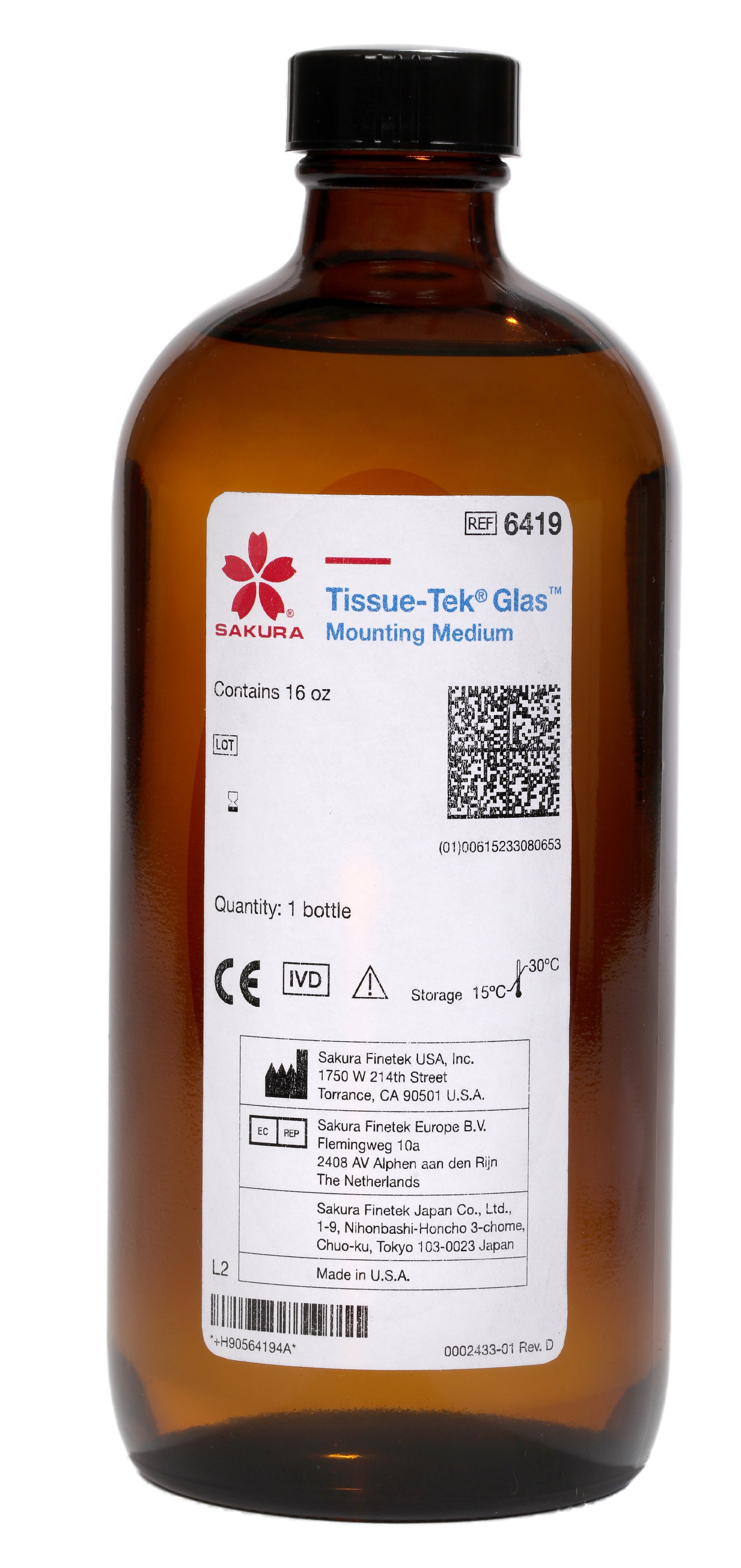 Tissue-Tek<sup>®</sup> Glas™ Mounting Medium<br />