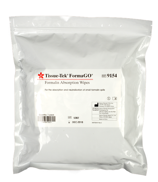 Tissue-Tek® FormaGO® Formalin Absorption Wipes